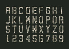Military pixels camo font Royalty Free Stock Images