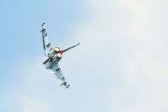 Military plane in action Stock Photo