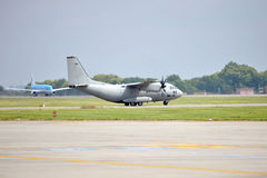 Military Plane Preparing for take off Royalty Free Stock Images