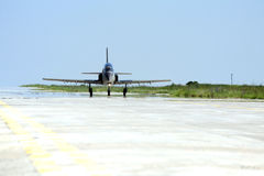 Military plane taxiing Royalty Free Stock Photos