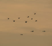 Military planes in the air Royalty Free Stock Image