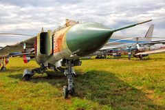 Military planes in State Aviation Museum Kiev 2015 Stock Photos