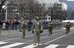 Military police on guard during Inauguration of Donald Trump Royalty Free Stock Image