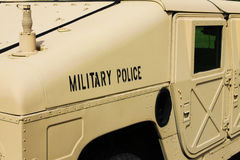 Military Police Humvee Stock Photo