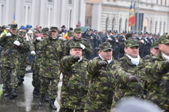 Military and police officers at a national event Stock Images