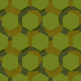 Military polygonal seamless pattern. Army abstract hexagon textu Stock Photo