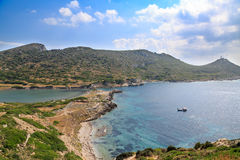 Military port part of old greek city knidos with light house dur Stock Photo
