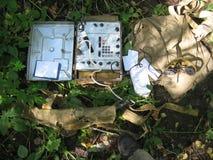 Military portable radio station. Royalty Free Stock Photo
