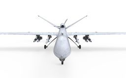 Military Predator Drone. Isolated on white background. 3D render Stock Photography