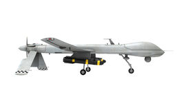Military Predator Drone. Isolated on white background. 3D render stock illustration