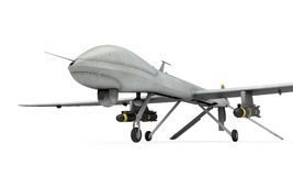 Military Predator Drone. Isolated on white background. 3D render vector illustration