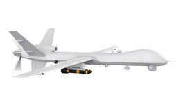 Military Predator Drone. Isolated on white background. 3D render Stock Image