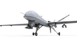 Military Predator Drone. On white background. 3D Render vector illustration