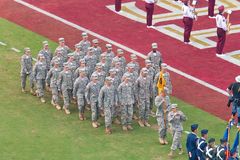 Military Presence at College Football Game Royalty Free Stock Images