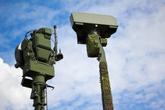 Military Radar. Photograph of military radar equipment Royalty Free Stock Photo