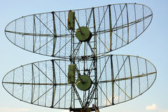 Military radar. Against the sky Stock Photography