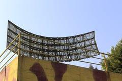 Military radar against the sky Royalty Free Stock Photo