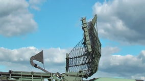 Military radar. Operating on the field stock footage