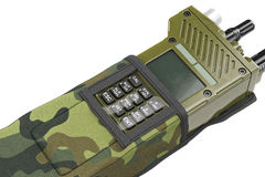 Military radio station buttons cover, close view Royalty Free Stock Photography