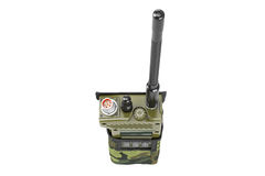 Military radio station cover, top view Royalty Free Stock Photos