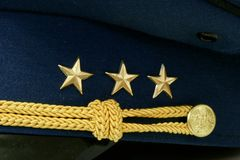 Military rank on cap Royalty Free Stock Images