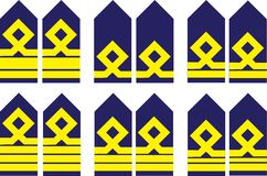 Military ranks Royalty Free Stock Images