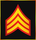 Military Ranks And Insignia. Stripes And Chevrons Of Army Stock Photos