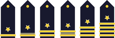 Military ranks Royalty Free Stock Photo