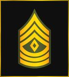 Military Ranks and Insignia. Stripes and Chevrons of Army. First Sergeant Stock Image