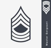 Military Ranks and Insignia. Stripes and Chevrons of Army Royalty Free Stock Photo