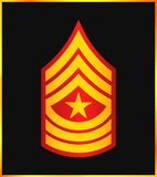 Military Ranks and Insignia. Stripes and Chevrons of Army Royalty Free Stock Photos