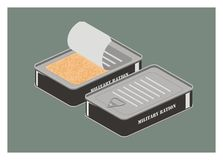 Military ration simple illustration Royalty Free Stock Photography
