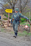 Military reconstruction devoted to free Kiev. Stock Images