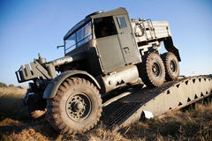 Military recovery truck Royalty Free Stock Photography