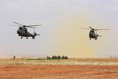 Military rescue operation Stock Image