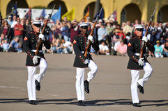 Military Rifle Drills. Soldier of the United States Marine Corps Silent Drill Team stock images