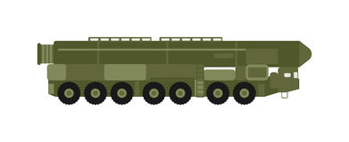 Military rocket launcher vector illustration. Royalty Free Stock Photography