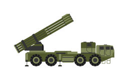 Military rocket launcher vector illustration Royalty Free Stock Photo