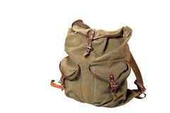 Military rucksack. Isolated on white background Royalty Free Stock Image