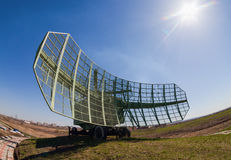 Military russian radar station Stock Photo
