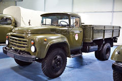 Military russian truck Zil-130 Stock Photos