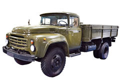 Military russian truck Zil-130 isolated Royalty Free Stock Photography