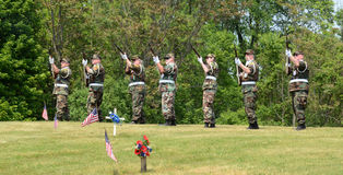 Military salute on Memorial Day Stock Images