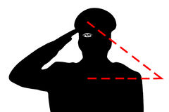 The military saluting. The hidden meaning of the gesture, the all-seeing eye. New world order Stock Photos