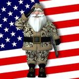 Military Santa.  Royalty Free Stock Images