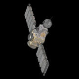 Military satellite vector illustration
