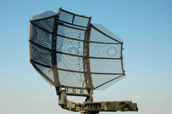 Military satellite dish Stock Image