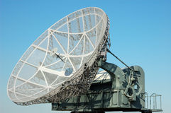 Military satellite dish stock photos