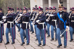 Military school cadets in the oath ceremony Stock Photography