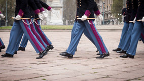 Military school cadets in the oath ceremony Royalty Free Stock Photography